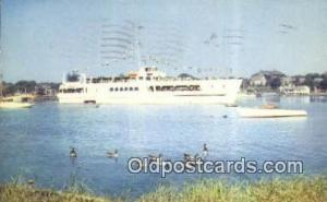 The Siasconset Leaving Hyannis, Cape Cod, Massachusetts, MA USA Ferry Ship Po...