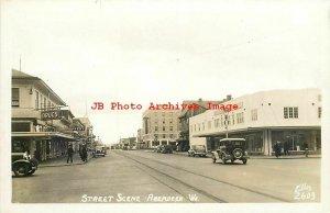 WA, Aberdeen, Washington, RPPC, Street Scene, Business Section, Photo No 2603