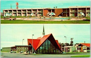 Cordele, Georgia Postcard HOWARD JOHNSON'S MOTOR LODGE & Restaurant c1960s