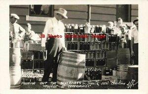 KY, Harlan, Kentucky, RPPC, Sheriff Neal Christian Pours Moonshine, Prohibition