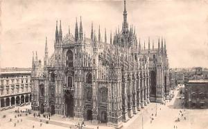Italy Old Vintage Antique Post Card Duomo Milano 1948