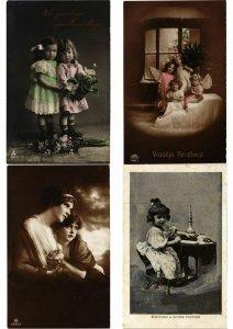 GLAMOUR FEMMES ENFANTS Lot of 800 CPA Vintage Real Photo Postcards PART 2(L2442)