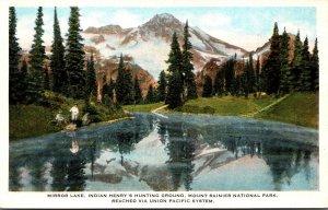 Washington Mount Rainier National Park Mirror Lake