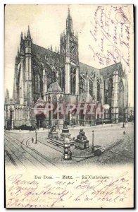 Old Postcard Der Dom Metz Cathedral