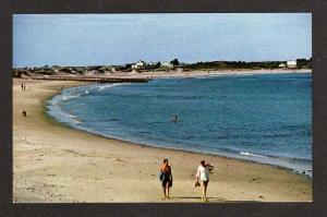 RI Crescent Beach BLOCK ISLAND RHODE ISLAND Postcard PC