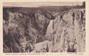 YELLOWSTONE, Wyoming, 1900-1910´s; Point Lookout And Falls, Yellowstone Park