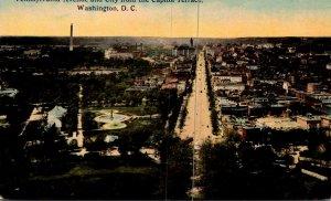 Washington D C Pennsylvania Avenue and City From The Capitol Terrace