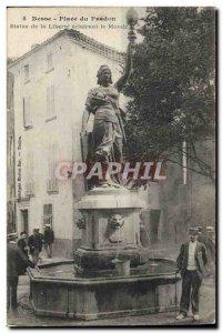 Old Postcard Statue of Liberty illuminating the world Besse Square Pradon