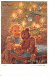 Noel, Franz Wiesenthal Pinx Teddy Bear Writing on back light tab marks from b...