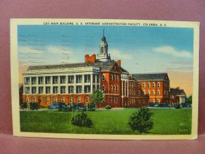 Old Postcard SC Columbia Main Building US Veteran's Administration Facility