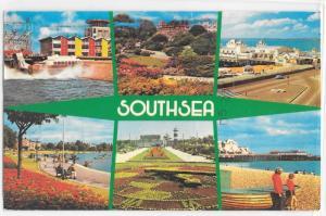 SouthSea Islands Multi View Hovercraft St. Ives Huntingdon Vintage Postcard