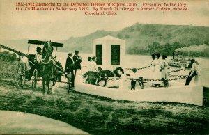 OH - Ripley. Underground Railroad, 1812-1912. Liberty Monument Dedication *VE...