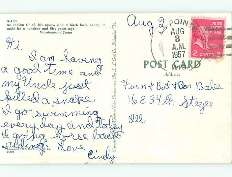 Pre-1980 INDIAN BIRCHBARK CANOE Madeline Island by Bayfield & Ashland WI AD5963