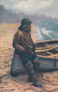 TUCK Toilers of the Deep # 6690; 1900-10s; Man in Slicker On The Lookout