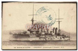 Old Postcard Boat War Navy War The Breastplate of Condorcet first dreadnought...