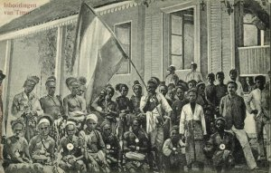 indonesia, TIMOR, Lesser Sunda, Group of Natives with Dutch Flag (1913) Postcard