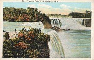 Postcard Niagara Falls from Prospect Park New York