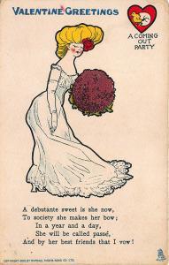 Valentine's Day Valentine Poem Raphael Tuck #6 Postcard Debutante