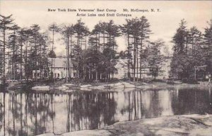 New York Mount Mcgregor New York State Veterans Rest Camp Artist Lake And Sta...