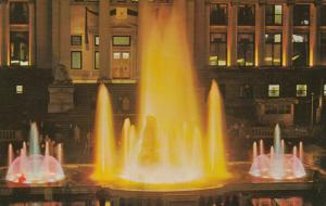 VANCOUVER, British Columbia, Canada, PU-1969; Centennial Fountain at Night