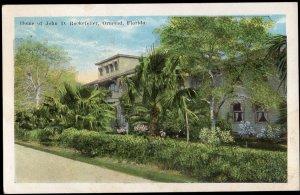 22820) Florida ORMOND Home of John D. Rockefeller - White Border