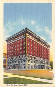 Marion Ohio~Hotel Harding~1939 Postcard