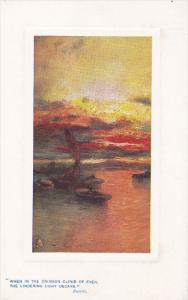TUCK #9719, When in the crimson cloud of even, the lingering light decays B...