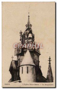 Dijon Old Postcard Notre Dame Church Le Jacquemart
