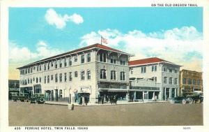 Andrews Autos 1920s Perrine Hotel Twin Falls Idaho Street Scene 5868