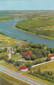 Canada Manitoba Winnipeg Aerial View Lower Fort Garry