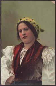 Italian Woman in Costume Postcard