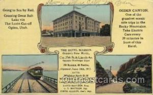 The Hotel Marion Ogden, Utah, USA Motel Hotel Postcard Postcards  The Hotel M...