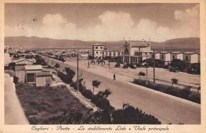 Cagliari Italy Poetto Street Scene Vintage Postcard JD933840