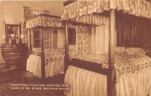 Natchez Mississippi~Hope Farm Bedroom (Home of Mr & Mrs Balfour Miller)~1940s PC