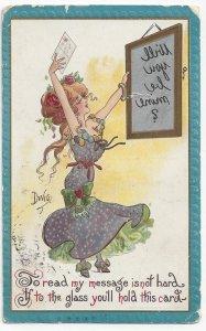DWIG, PU-1910; Reverse Image Mirror Message