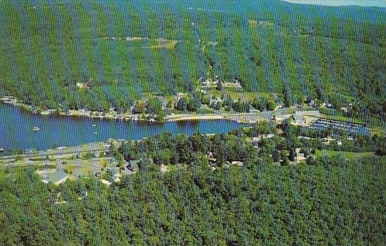 Aerial View Of Famous Vacation Spot Alton Bay New Hampshire