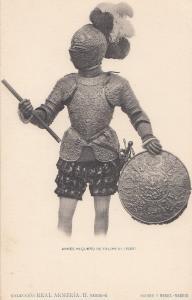 Philip Felipe 3 III King Of Spain II Portugal Knight Armour Vintage Postcard