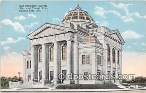 Churches Vintage Postcard Kansas City, MO, USA Vintage Postcard Second Church...