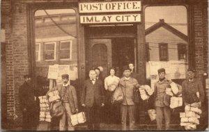 Imlay City, Michigan - POST OFFICE -  POSTCARD - REPRINT 1996 - PC