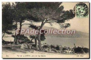 Old Postcard Menton view of Cap Martin