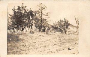 G7/ Pleasant Hills Iowa RPPC Postcard c1910 Storm Disaster Home 2