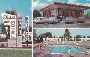 LONDON, Ontario, Canada, 1940-1960's; Elizabeth Court Motel, Highway 2, Swimming
