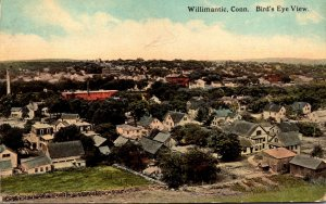 Connecticut Willimantic Birds Eye View 1916