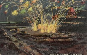 MONTREAL , Quebec , 1913 ; Fireworks on the Mountain