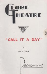 Call It A Day Fay Compton Comedy The Globe Rare Old London Theatre Programme