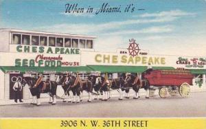 Florida Miami Chesapeake Sea Food Restaurant 1955