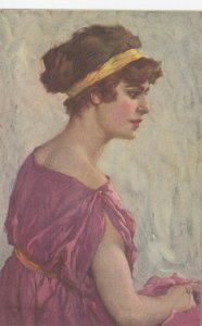 Woman portrait , 1900-10s ; #36A ; Artist A Beltrane