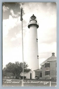 ST.SIMONS ISLAND GA LIGHT HOUSE ANTIQUE REAL PHOTO POSTCARD RPPC
