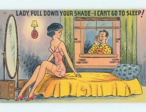 Linen risque SEXY GIRL IN LINGERIE IS KEEPING NEIGHBOR MAN AWAKE HJ3139