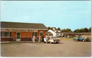 ACTON, MA Massachusetts   The CONCORDIAN MOTEL   c1950s Cars Roadside   Postcard